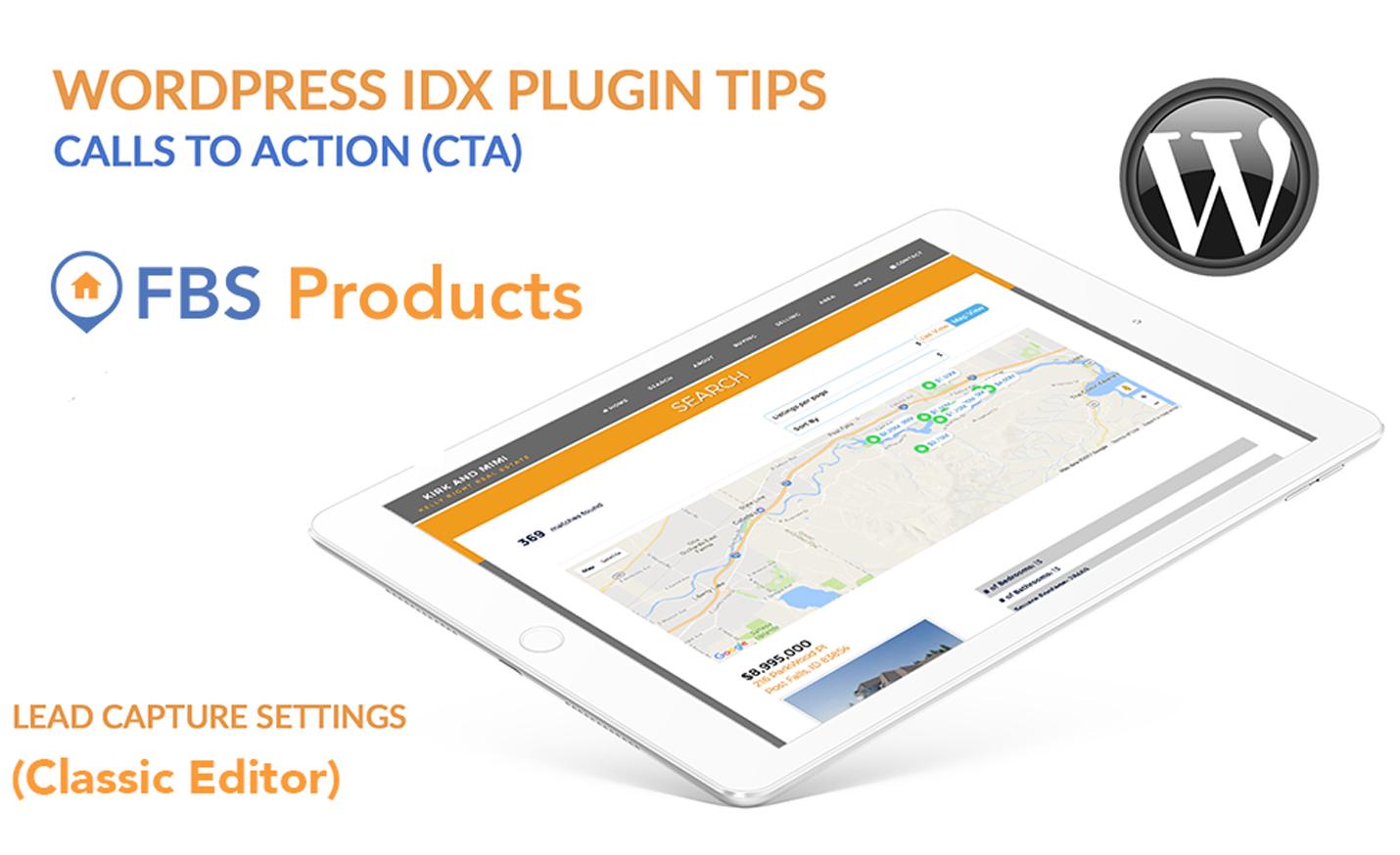 Wordpress IDX widget tip