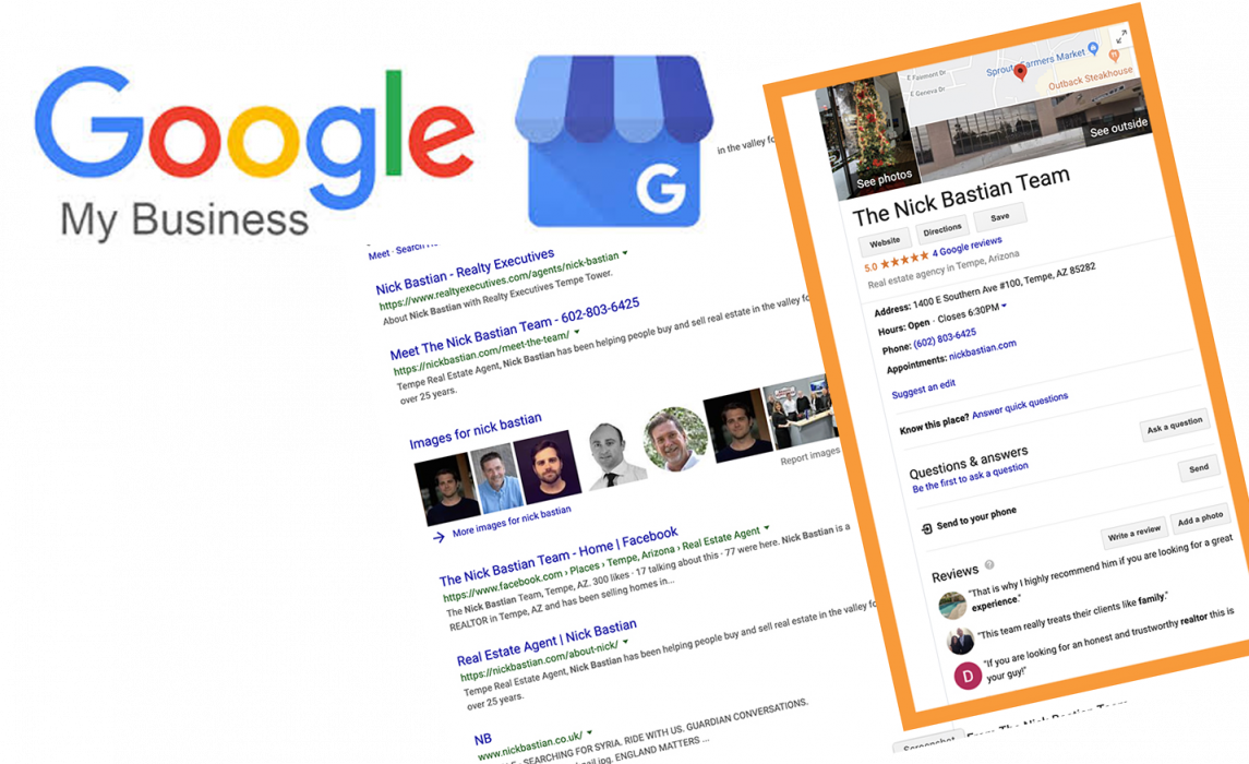 google my business for real estate idx sites