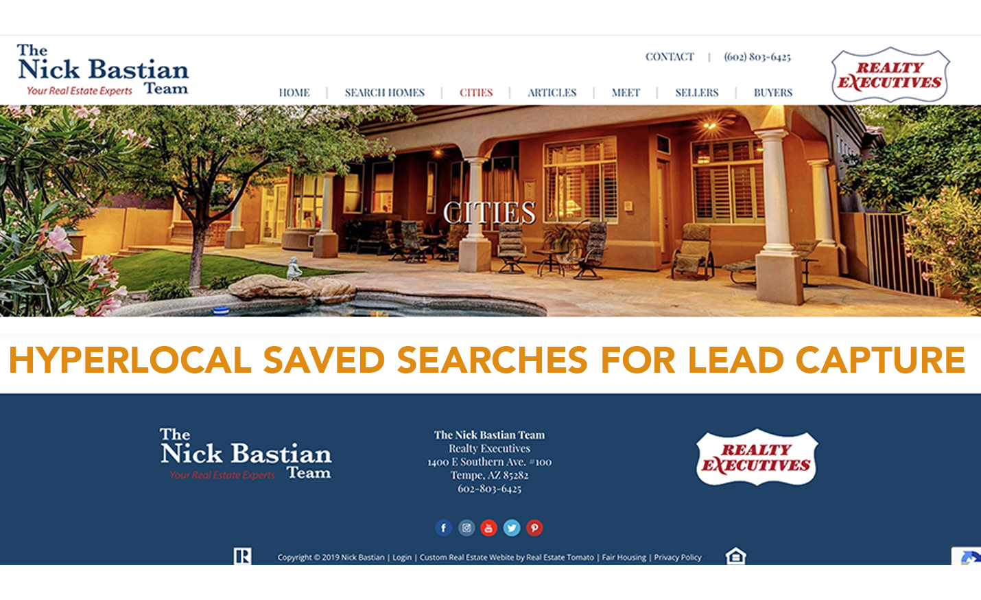 hyperlocal saved searches for lead capture with realtors and brokers