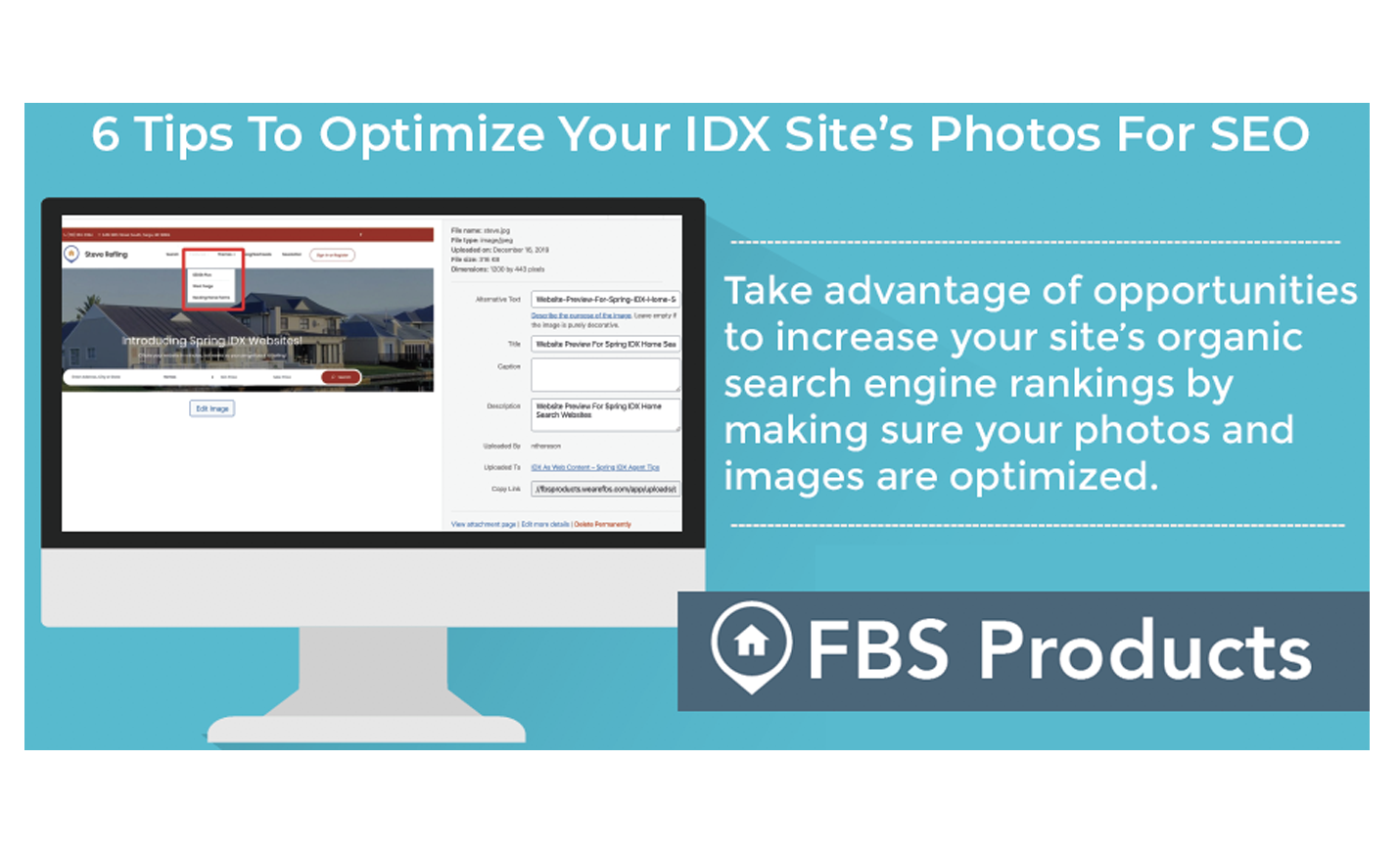 optimize idx real estate photos