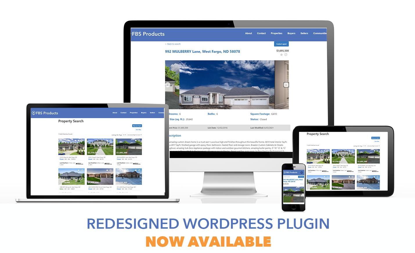 Redesigned Flexmls IDX WordPress Plugin on multiple devices